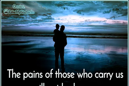The pains of those who carry | Life Quote