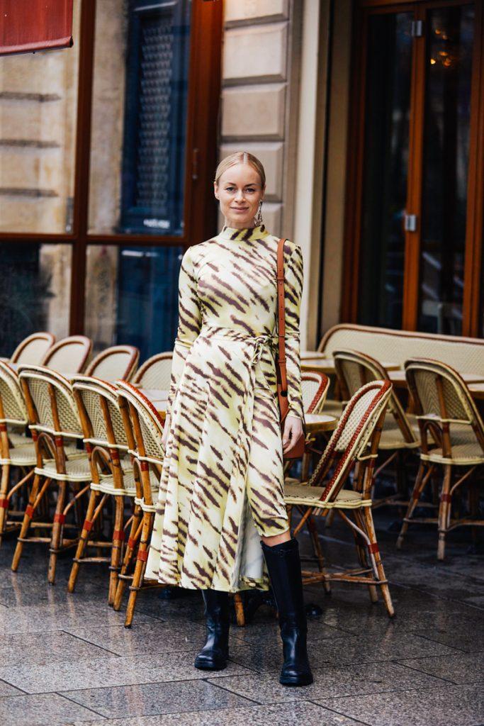 Animal Print Dress Outfit Idea