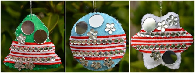Homemade Christmas Ornaments: Felt Bling