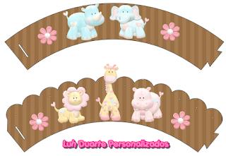 Wrappers para cupcakes de Tierno Hipopótamo.