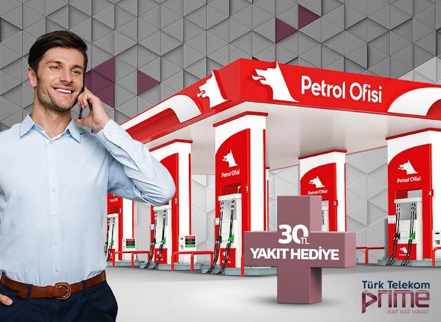 Türk Telekom Prime'lılar Petrol Ofisi'nde 30 TL'lik akaryakıt hediye