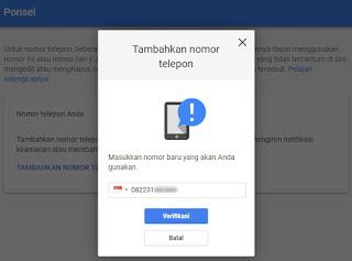 Cara Mengganti Nomor Verifikasi Akun Google
