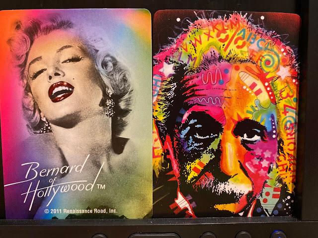 The backs of Marilyn Monroe Jokers