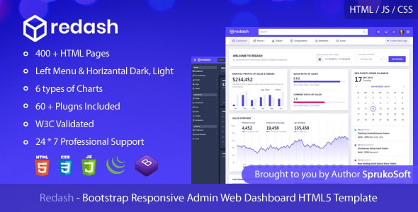 Bootstrap Responsive Admin Web Dashboard HTML5 Template