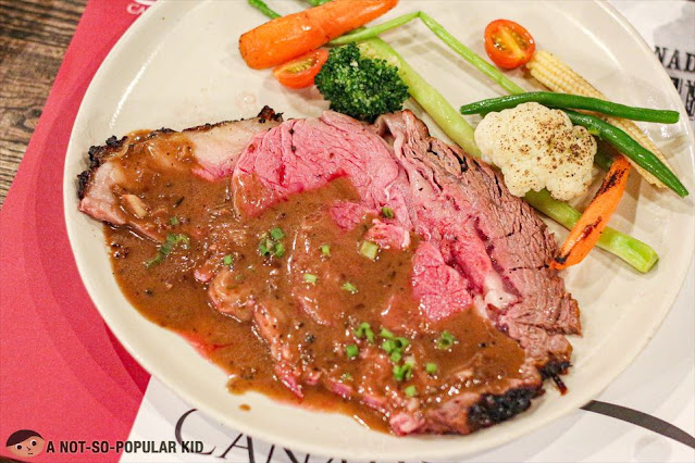 3 Kind Mustard Crusted Canadian Triple A Ribeye in Peppercorn Sauce by Chef Antolin and Chef Carlo Miguel
