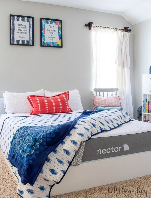 Nectar mattress on DIY platform bed