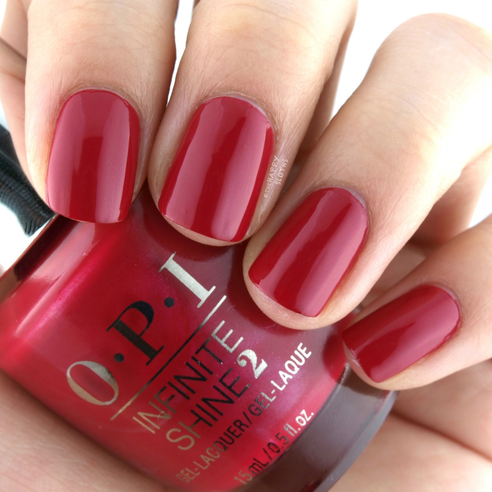 OPI Infinite Shine OPI Red Swatches Review