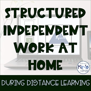 Structured Independent Work During Remote Learning using Technology