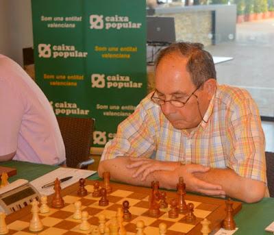 Joan Bautista Sánchez en el XIV Campeonato de España de Ajedrez para Veteranos