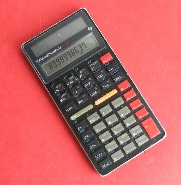 Texas Ti-34 Solar Scientific Calculator 1987