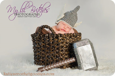 newborn crochet thor hat