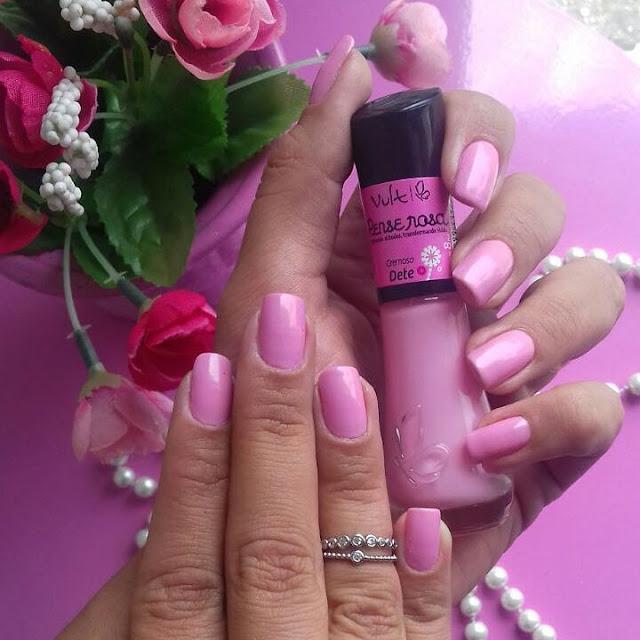 esmalte pense rosa cor dete