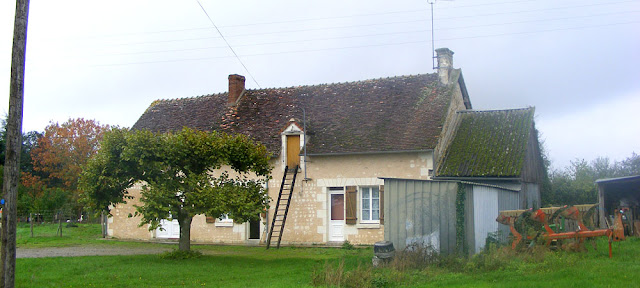 A traditional longere style house in the countryside. Indre et Loire, France. Photographed by Susan Walter. Tour the   Loire Valley with a classic car and a private guide.
