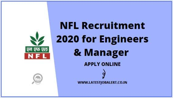 NFL Recruitment 2020 for Engineers & Manager post online form |Apply online