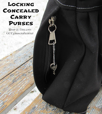 My New Locking Concealed Carry Purse at Gina's Craft Corner