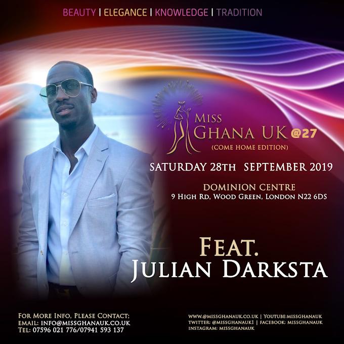 Julian Darksta' to perform at Miss Ghana UK this Saturday