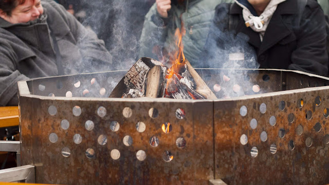 Fire pit at the Christmas Market in Berlin