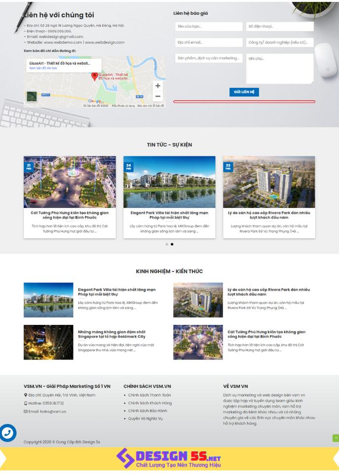 Template blogspot thiết kế web kết hợp marketing VSM67 - Ảnh 2
