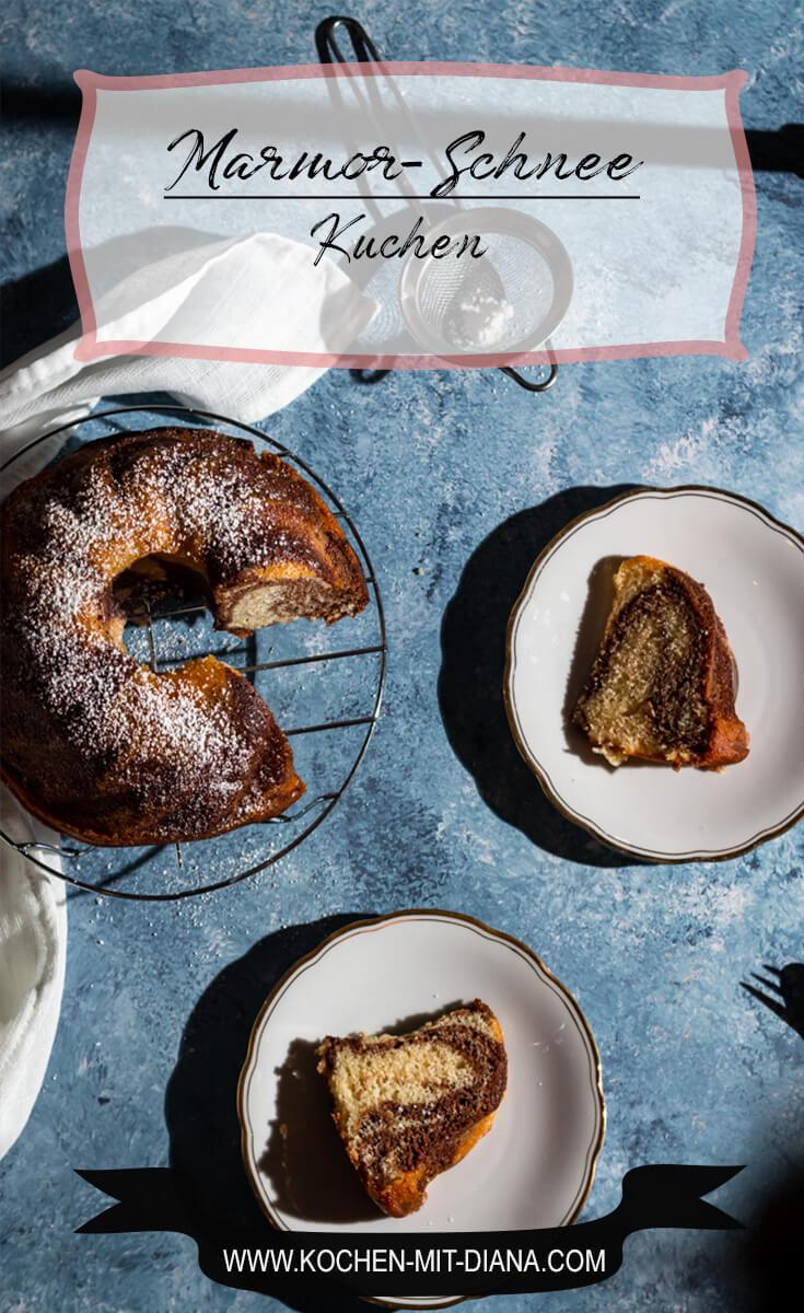 Marmor-Schnee-Kuchen