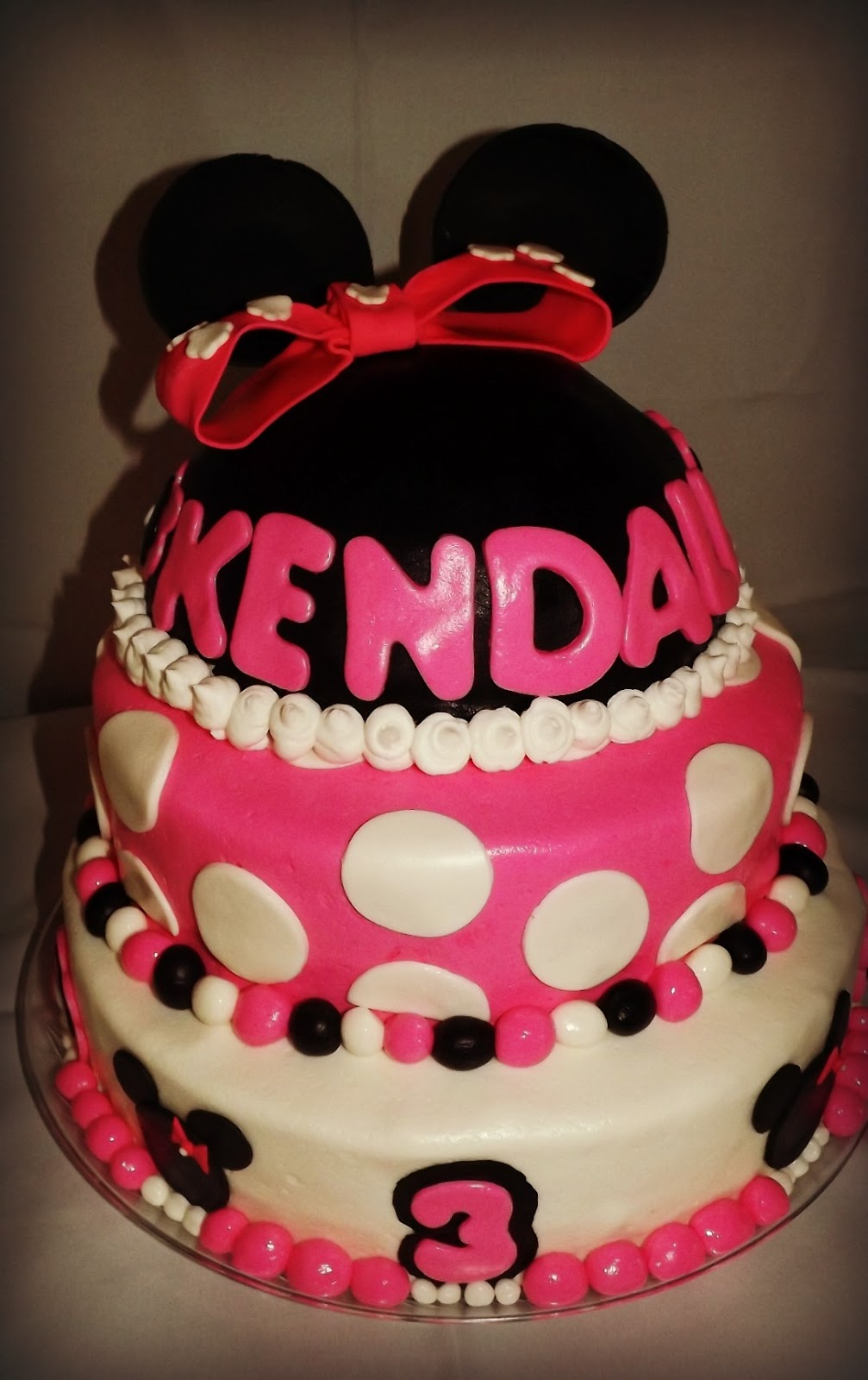 Mandy S Cakes Minnie Mouse Pink Black And White