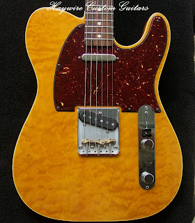 Image results for a Custom feather light custom shop quilted maple Telecaster by Haywire Custom Guitars Custom shop