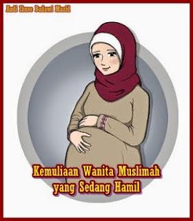 gambar dp bbm wanita muslimah hamil