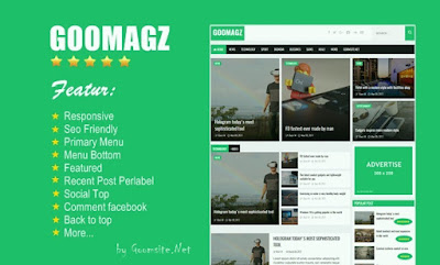 goomagz blogger template seo responsive free