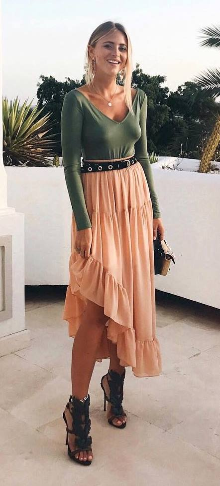 ootd: top + maxi skirt