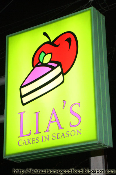 Lias+Signage - Avocado Cake, Etc - Lia's Cakes In Season
