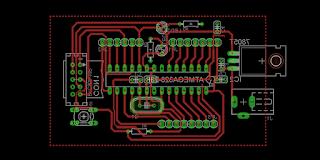 Rangkaian Sismin Atmga8 / Atmega328 Skematik dan Board