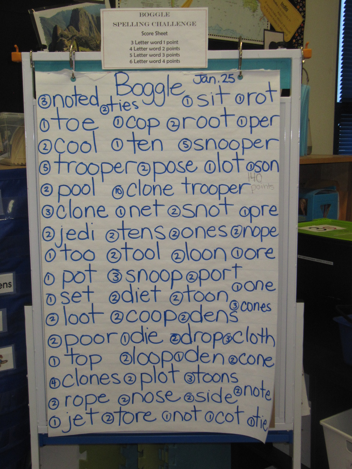 Mrs Squires Grade 3 Class 3s Boggle