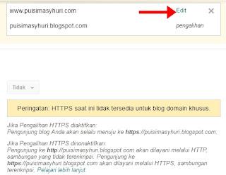 Alihkan alamat blog dengan domain tanpa www ke www