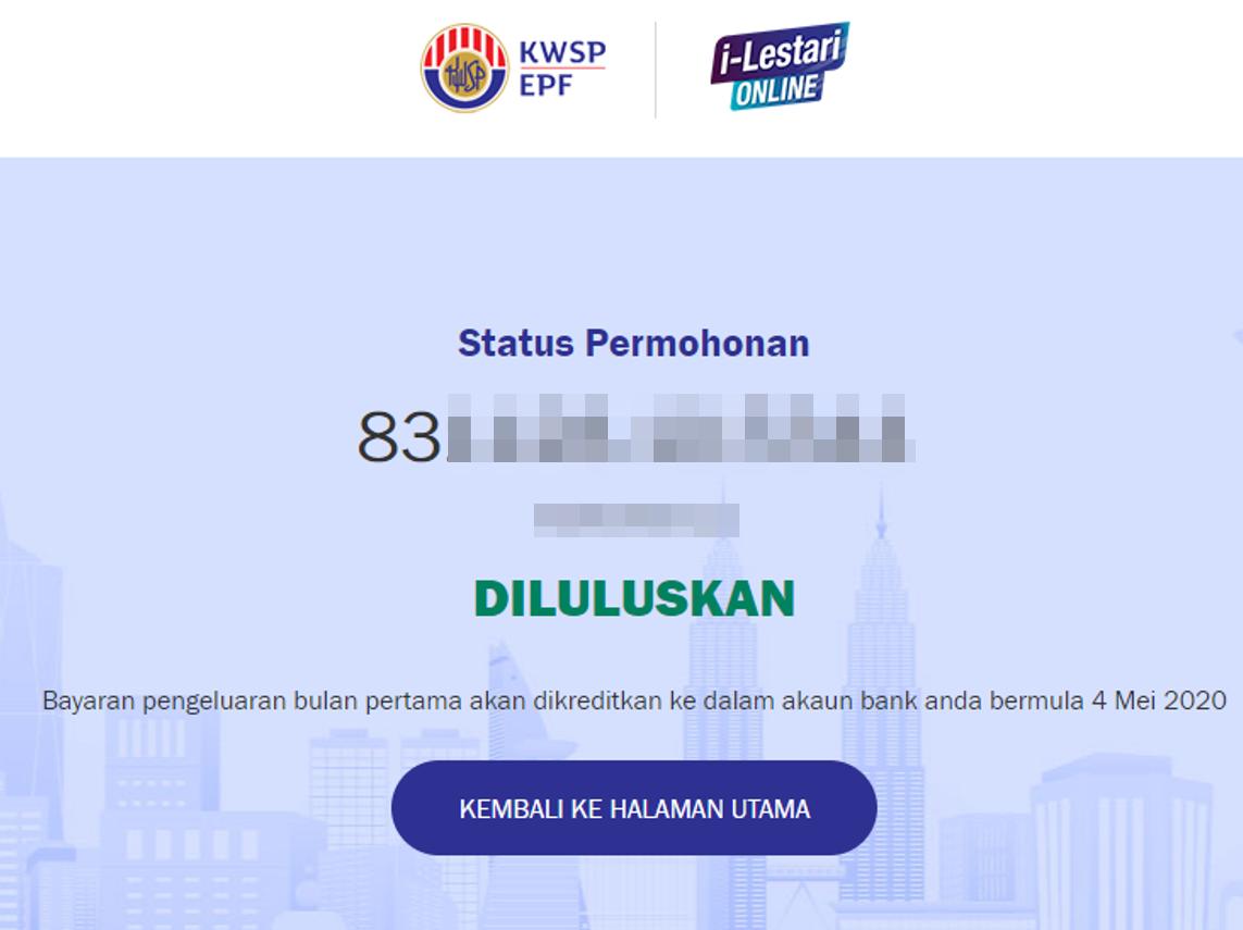 Status I Lestari Kwsp Sudah Lulus Nukilan Budak Flat