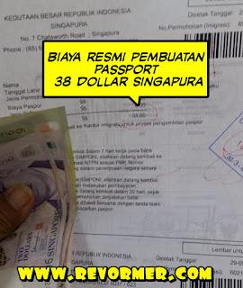 Biaya resmi bikin passport di singapura
