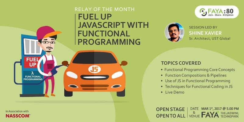 Functional Javascript by Shine Xavier at FAYA Technopark Trivandrum
