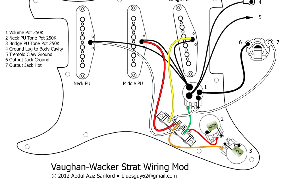 stratocaster output jack wiring diagram
