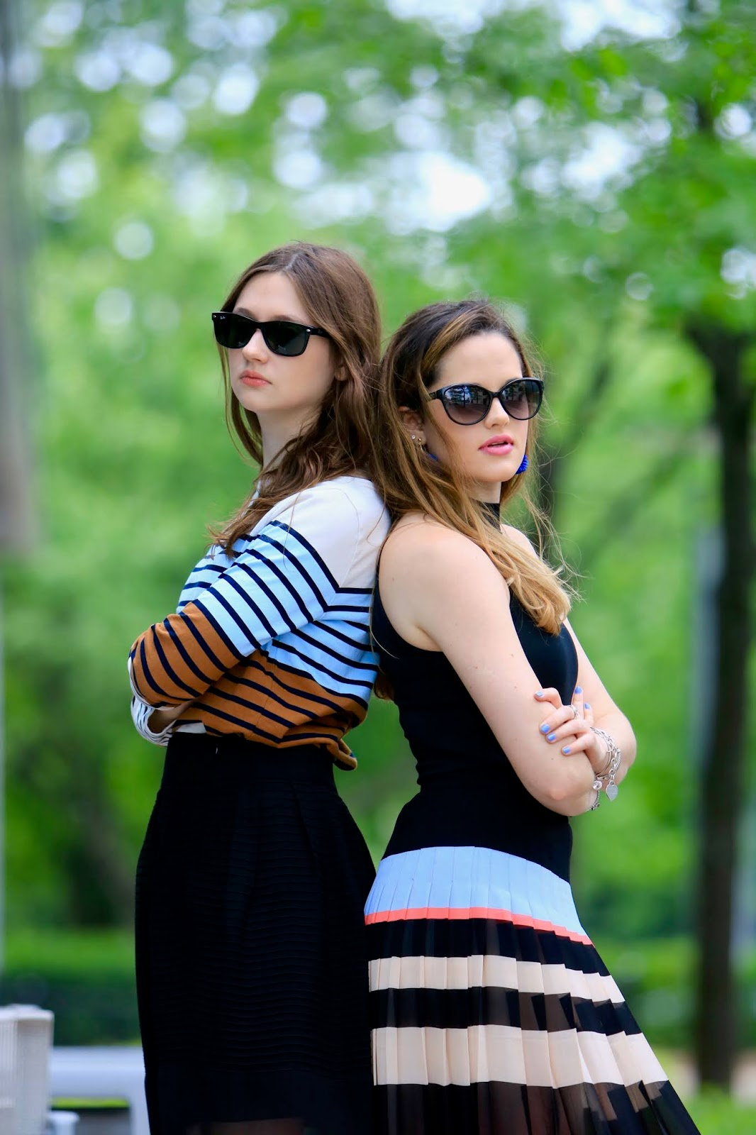Nyc fashion blogger Kathleen Harper with her sister Sarah Harper