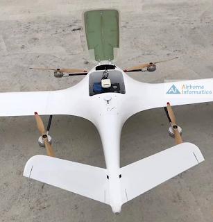 Gambar Instalasi alat lidar pada long range UAV