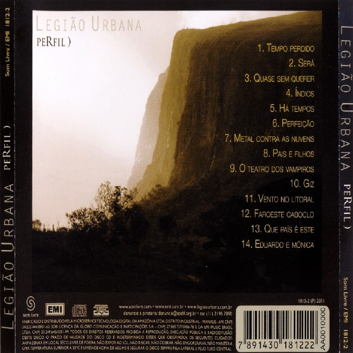 cd completo gratis legiao urbana perfil