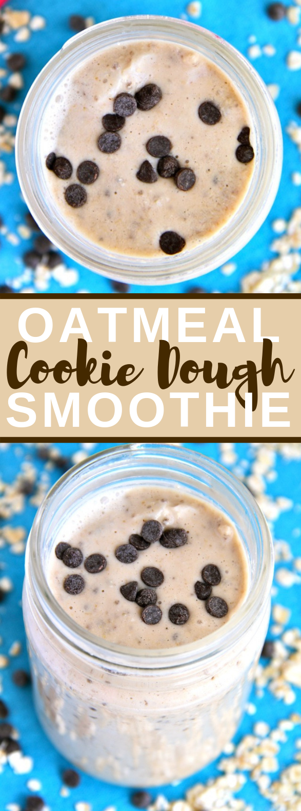 Oatmeal Cookie Dough Smoothie #drinks #healthydrink