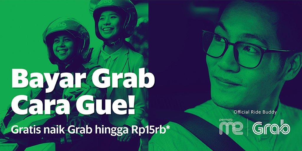 Grab - Pakai PermataME Gratis 15 Kali Perjalanan Senilai 15 Ribu (s.d 8 Agustus 2018)