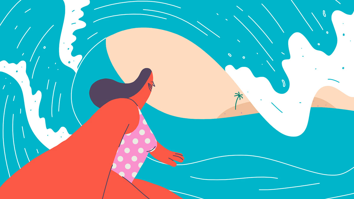 La física del surf hecha arte por el estudio Wonderlust