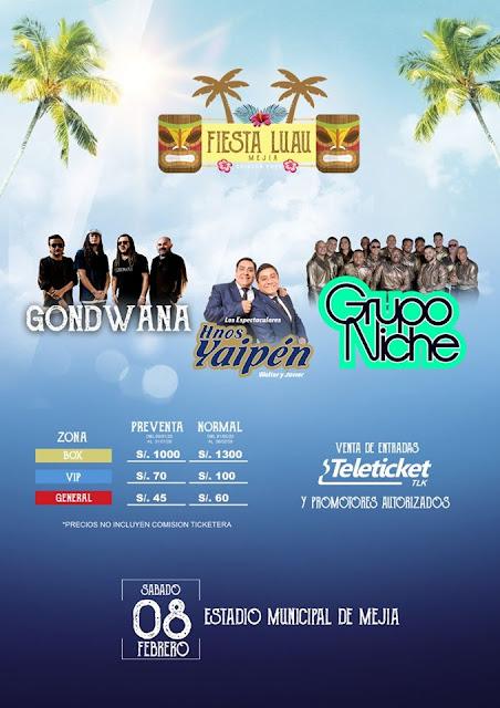 Precio de entradas Fiesta LUAU