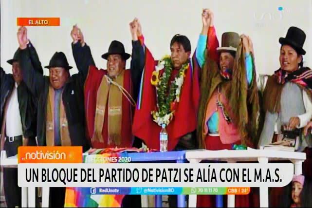 Un bloque del partido de Félix Patzi se alía con el Movimiento al Socialismo