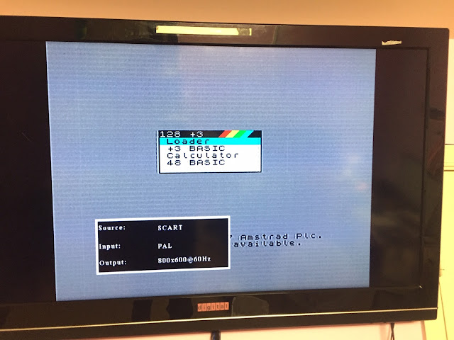 Supratim Sanyal's Blog: Sinclair ZX Spectrum +3 Running in USA with Conversion of 110V to 220V AC and PAL UHF TV swapped with RGB to SCART and SCART to HDMI on NTSC / ATSC US TV Standard