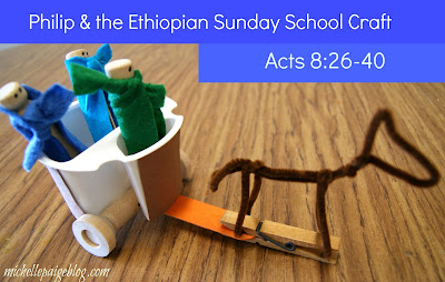 Phillip and the Ethiopian Sunday School Craft @michellepaigeblogs.com