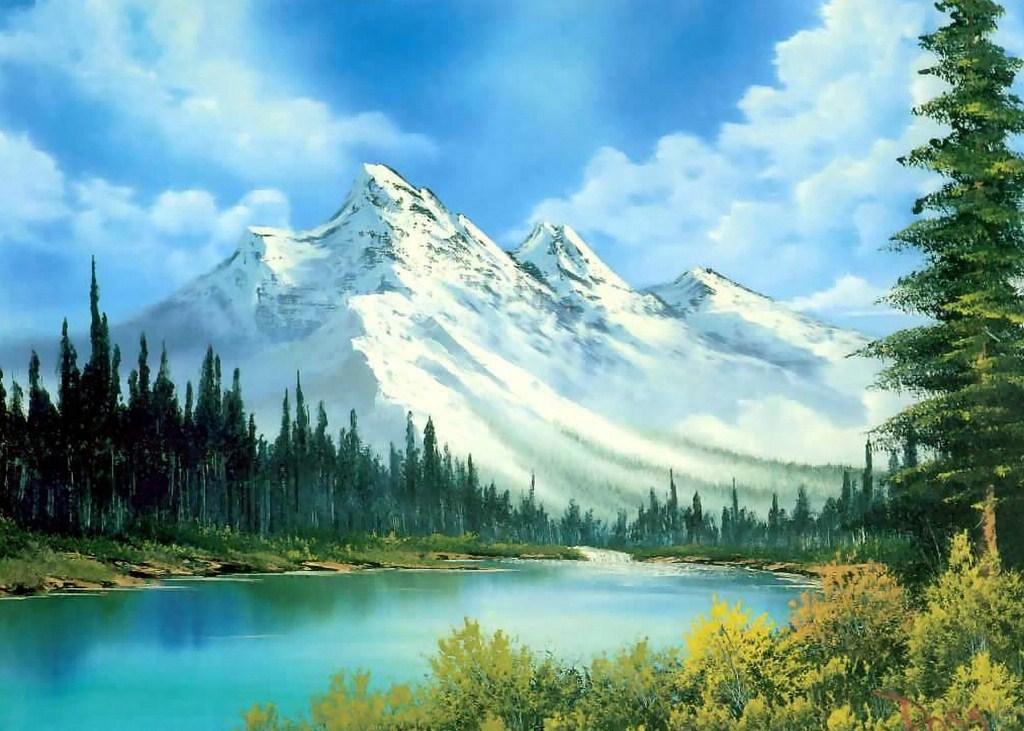 Cuadros Modernos Pinturas Y Dibujos : Naturaleza Verde