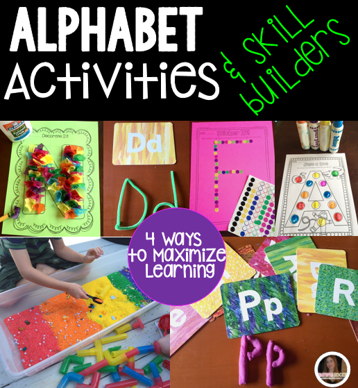 Back to School Alphabet Activities for Centers