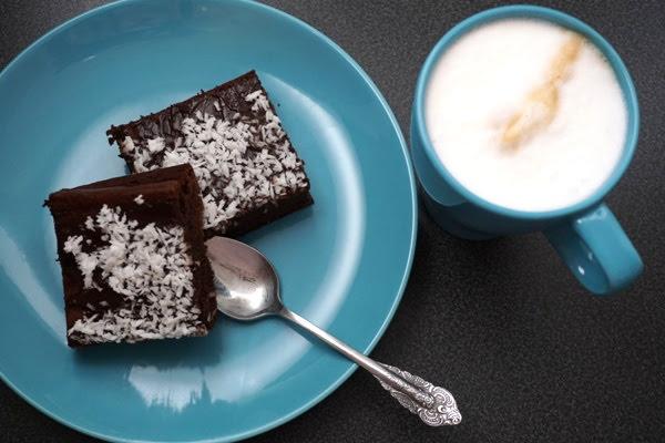 czekoladowe ciasto brownie z fasoli