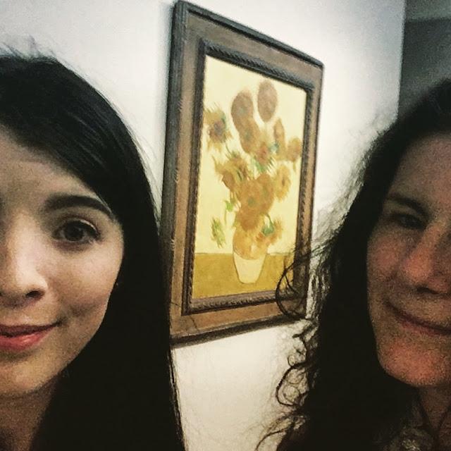 Selfie with Sunflowers Vincent Van Gogh